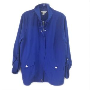 Laura Ashley Blue Zip front Jacket - L